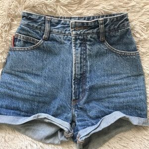 High waisted vintage bongo shorts